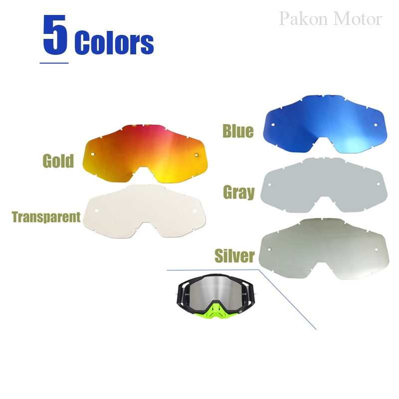 Motocross Sunglasses Goggles Lens Glasses of Outdoor Off-Road Dirtbike ATV Motorcycle Helmet Sun-Glasses Accessories 100% New 1x silver vintage motocross goggles anti uv scooter motorcycle glasses atv skiing cycling off road eyewear sunglasses brown lens