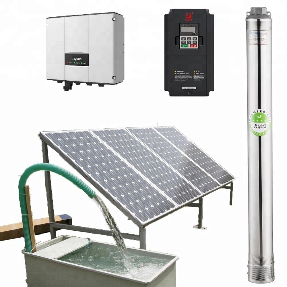 5500 Watt Solar Water Pump, Agriculture Brushless Submersible Deep Well Solar Pump