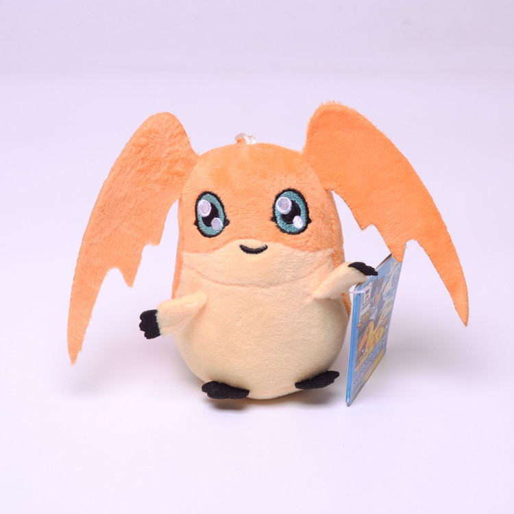 12Pcs/Lot 10CM Digimons Peripheral Patamon Mini Cute Soft Plush Keychain for Bag Key Pendant