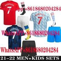 21 22 manchester soccer jerseys united cavani utd van de beek b fernandes rashford humanrace football shirt adult man kids kit