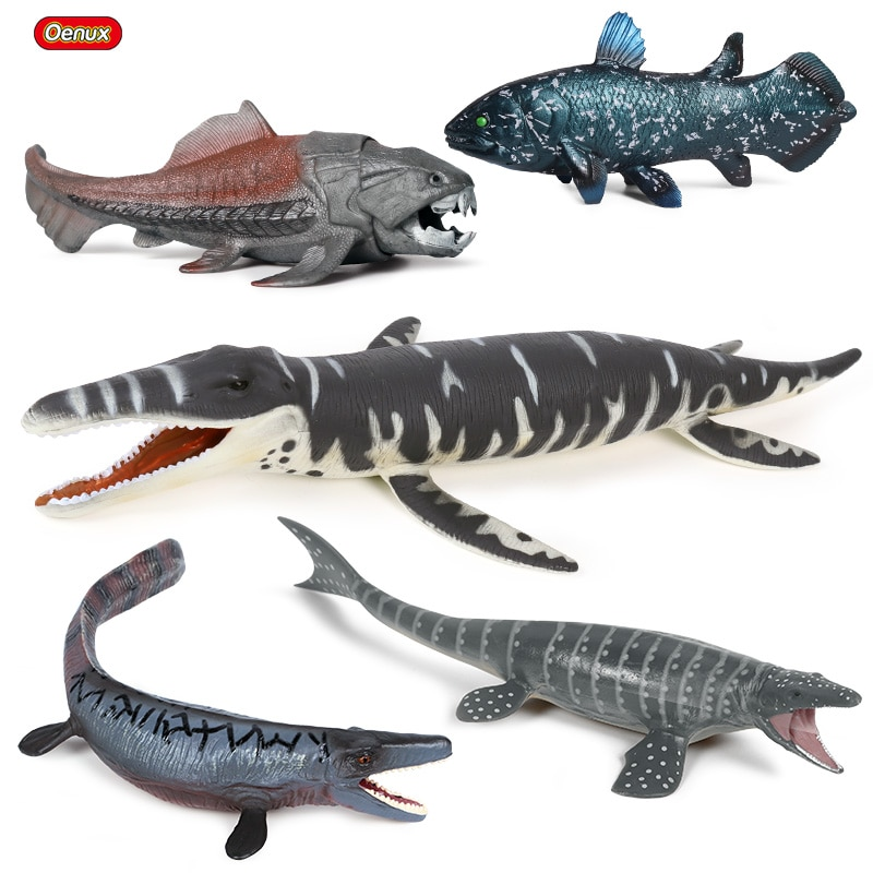Oenux-figura de acción prehistórica de la vida marina, Dunkleosteus Terrelli, dinosaurio, Liopleurodon Mosasaurus, modelo de juguete para chico