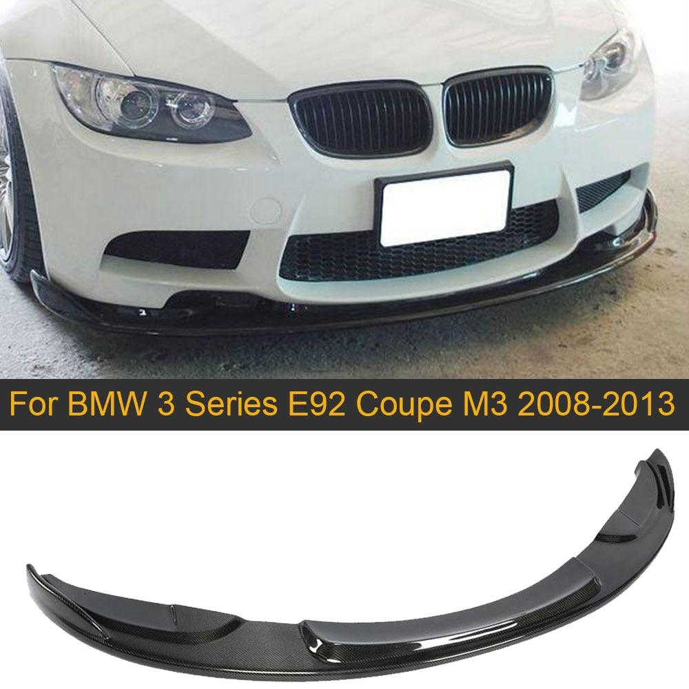 Alerón de parachoques delantero de fibra de carbono para BMW 3 Series E92 Coupe 2D M3 parachoques sólo 2008-2013 labio delantero de coche Splitters Spoiler