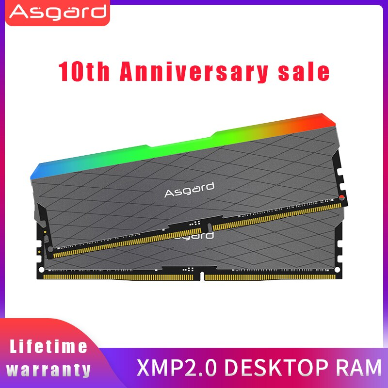 Asgard Loki w2 RGB 8 ГБ * 2 3200 МГц DDR4 DIMM 288-pin XMP Память ddr4 настольная память Rams для компьютерных игр двухканальный