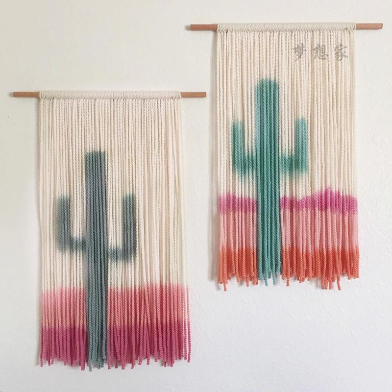 Tapiz de tejido bohemio, tapiz estético de estilo nórdico para colgar en la pared, tapiz Simple para boda, decoración de pared EB50GT