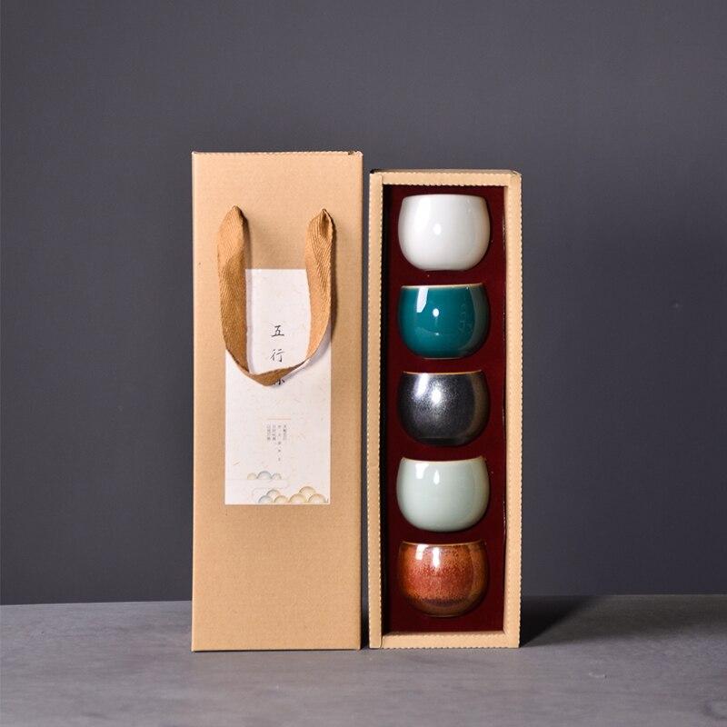 Luwu cerâmica conjunto de 5 xícaras de xícara kung fu chinês conjuntos drinkware 50ml