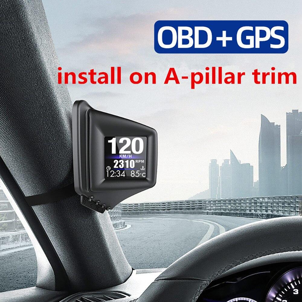 aozbz computador de bordo com visao inteligente compativel com obd2 gps sistema duplo