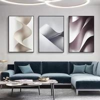Toile de peinture couleur abstraite a lignes douces  affiche et impression pour salon chambre a coucher  decoration nordique  image  decoration murale  decor de maison