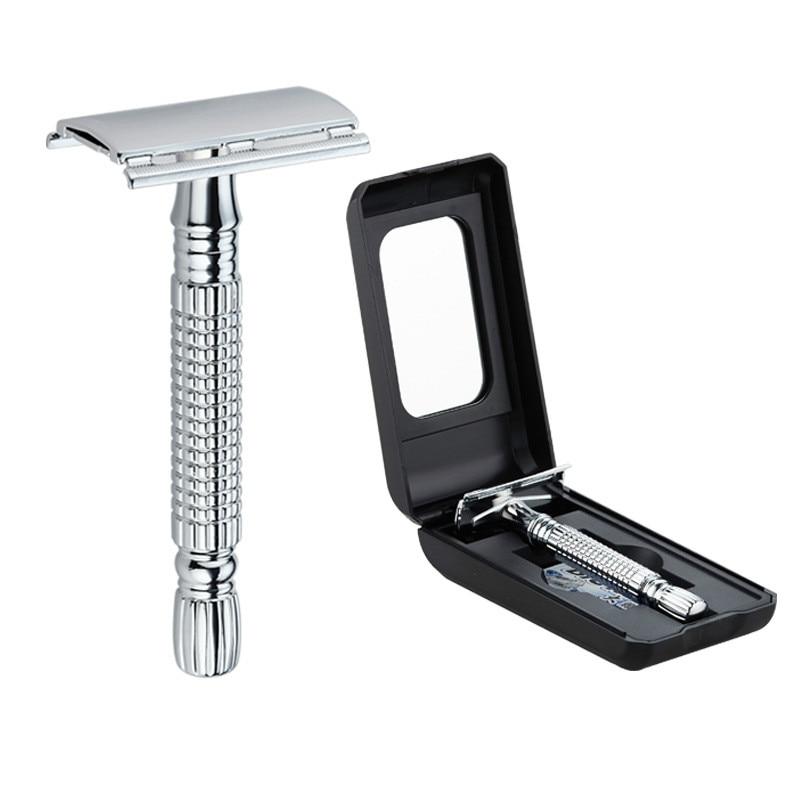Old Hand DoubleEdge Shaving Razor Single Blade Shave Knives Adjustable Safety Gifts for Men Facial Razor Set Face Female