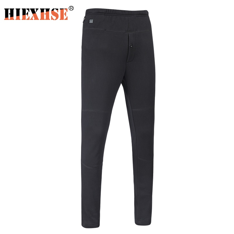 Winter Fever Down Cotton Trousers For Men And Women Pants High Waist Leggings Slim Thickening Usb Charging Intelligent Heating