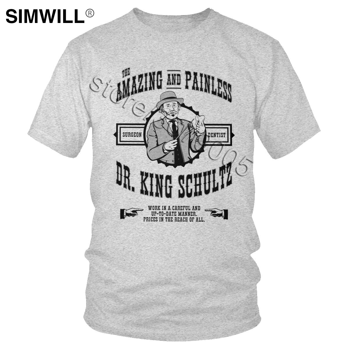 Vintage Dr. King Shultz Camiseta clásica de algodón dentista camiseta hombres de manga corta de odontología camiseta de regalo de higienista Dental