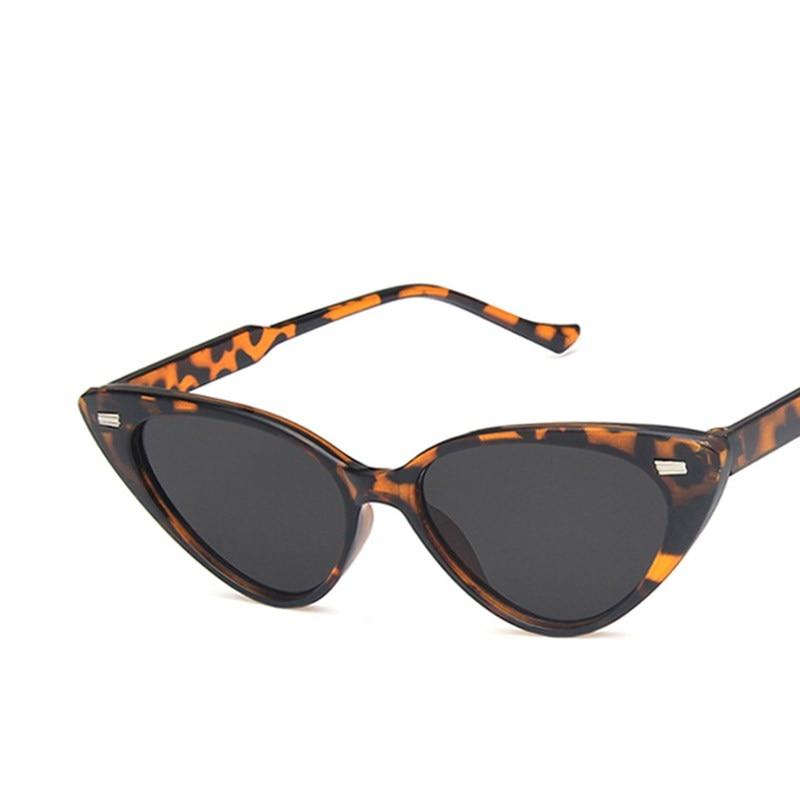 Солнцезащитные очки в стиле ретро кошачий глаз с леопардовым принтом женские черные круглые пластиковые мужские солнцезащитные очки модны...