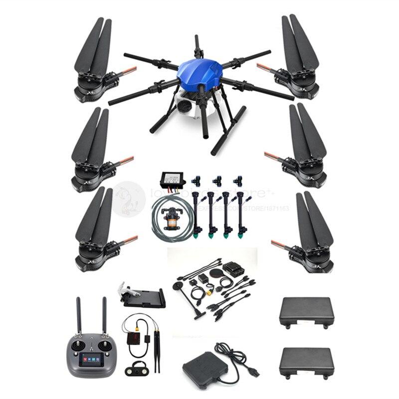 EFT E610S 10L agrícola impermeable Dron rociador kit sin montar 6 ejes marco plegable BOYING PALADIN V2 VD32 X6 E610 actualización