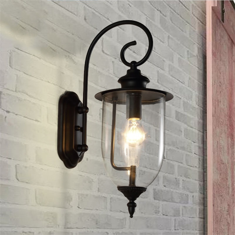AOSONG Classical Outdoor Wall Lamps LED Light Waterproof IP65 Sconces For Home Porch Villa Decoration enlarge