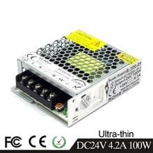Einzigen Ausgang Ultra-dünne Schaltnetzteil DC24V 4,2 EINE 100W Transformator 110V 220V AC Zu DC 24 V SMPS für Led Streifen Beleuchtung