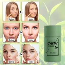 2021 Green Tea Purifying Clay Stick Mask Oil Control Deep Cleaning Anti Acne Green Tea Detox Stick F