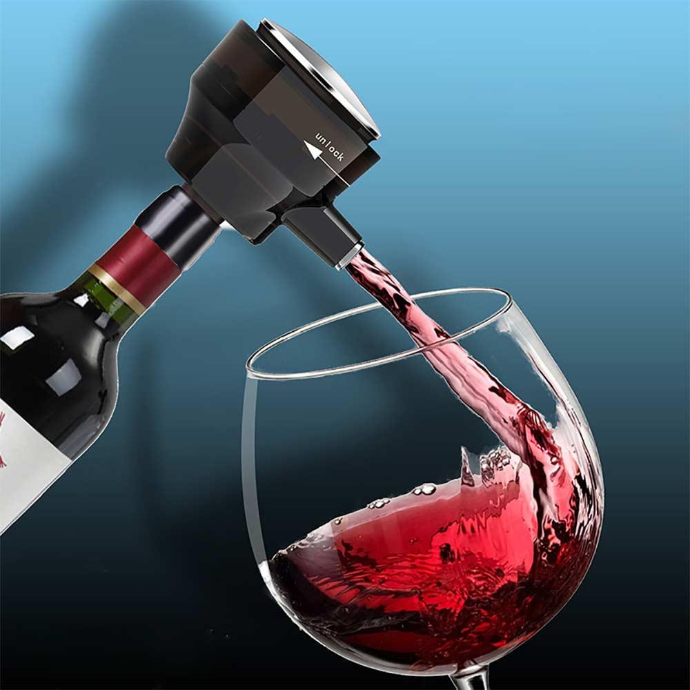 متعددة الوظائف المحمولة الكهربائية عالية السرعة الأكسجين إناء نبيذ الموجات فوق الصوتية رغوة البيرة الفوار للنبيذ الأحمر البيرة المعلبة