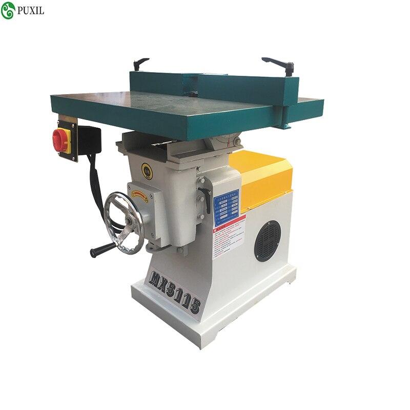 Máquina de eje moldeador de Router Vertical de madera de alta velocidad 220/380V MX5115 fresadora de escritorio equipo de carpintería
