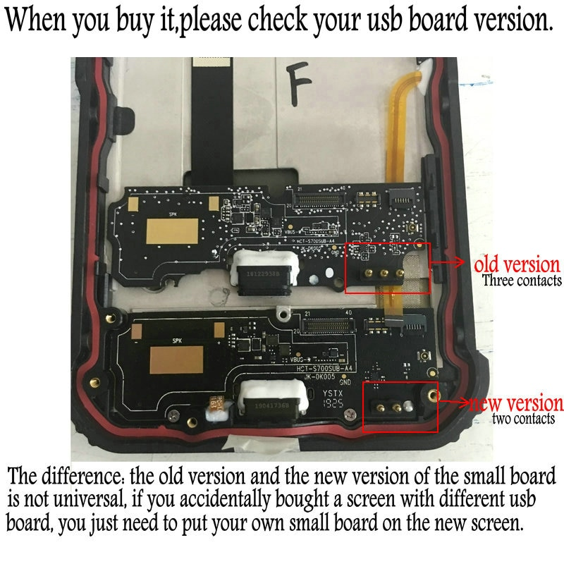 For Blackview BV9600 Pro LCD Display Screen Fingerprint Sensor Button Earpiece Micophone Power FPC USB Board Charger For BV9600 enlarge