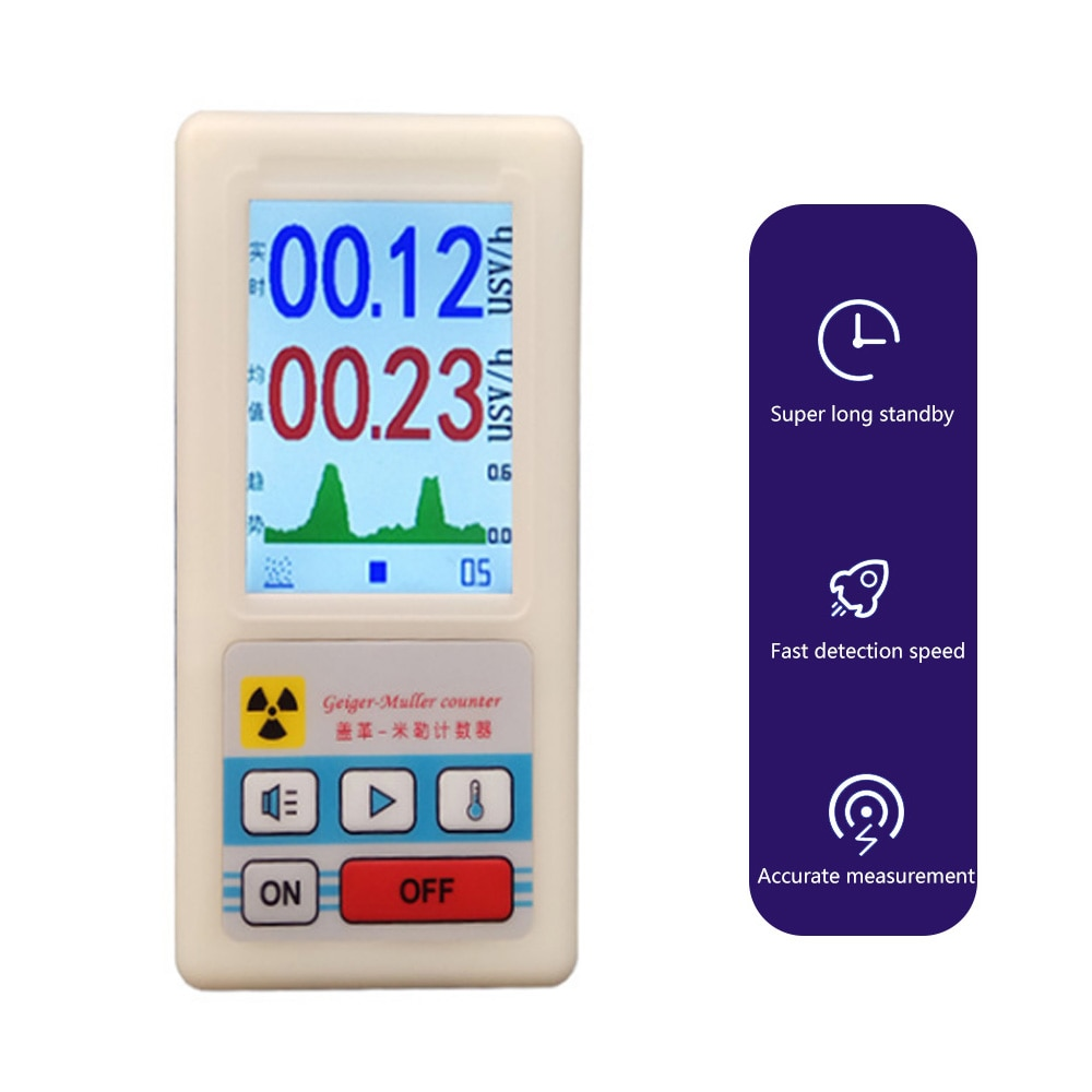 BR-6 Nuclear Radiation Detector with Display Screen X-ray Beta Gamma Detector Geiger Counter Radioactivity Detector