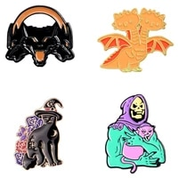 enamel badges cute pin brooches for women anime pins metal enamel brooch badges for backpack aesthetic large brooch badges pins