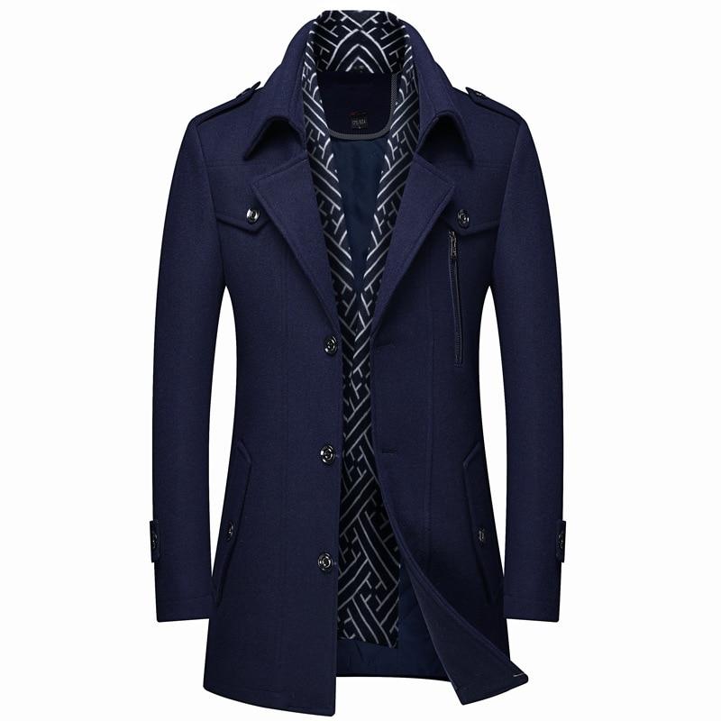 Abrigo grueso de alta calidad para Hombre, largo, multicolor, talla 3XL, Abrigo...