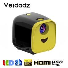VEIDADZ L1 micro projecteur prend en charge 1080P HDMI USB portable projecteur lecteur vidéo compatible avec TV stick, ordinateur portable, PS4, Xbox