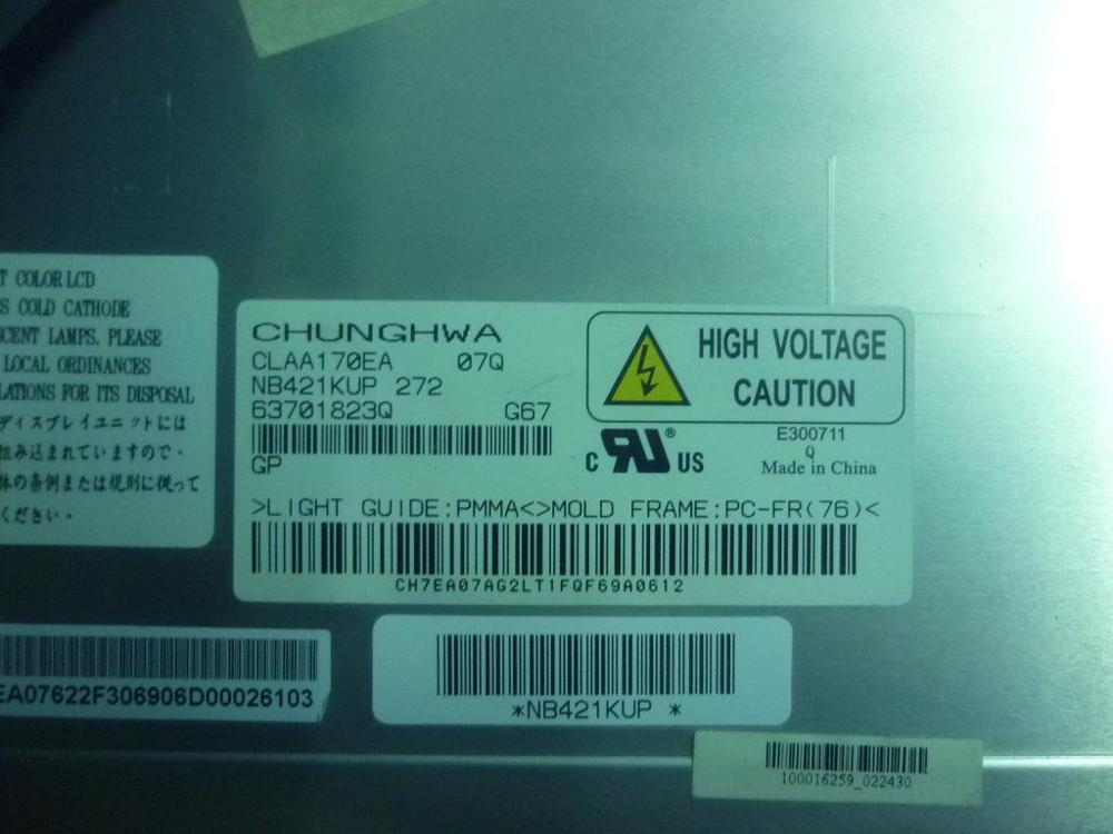 CLAA170EA M170EG01 LM170E03 LTM170EU-L31 LTM170EU-L21 LCD شاشة