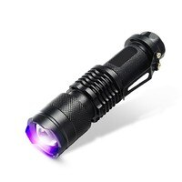 Mini UV Ultra Violet LED Flashlight Blacklight Inspection Lamp Torch 395/365 NM Violet Zoom Flashlight Small Led Flash Light
