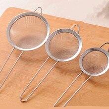1 pièces acier inoxydable écran maille tamis poudre tamis jus eau Scoop gadgets cuisine outils de cuisson pâtisserie
