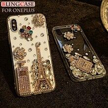 Bouteille de parfum strass étui diamant couverture pour Oneplus 6 3 3T 5 5T 7 7T Pro One plus 3 5 6T 7 étui de téléphone cristal