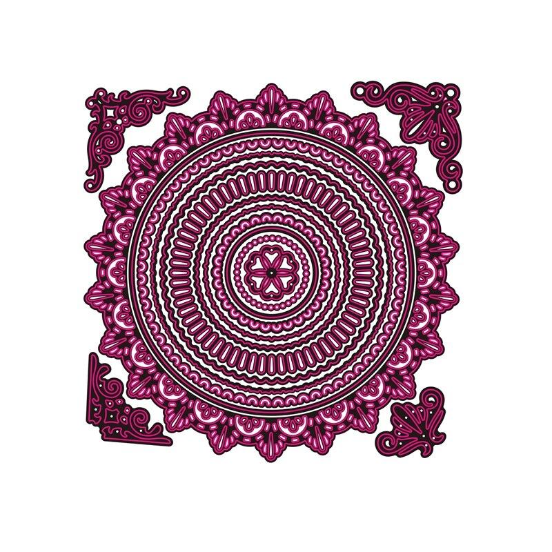 ¡Novedad de 2019! Troqueles de corte de Metal y álbum de recortes para hacer papel, Círculo de álbum, fondo repujado sin marco de sellos, arte de tarjeta