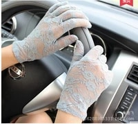 new spring and summer ladies sexy gloves lace driving electric car sunscreen short lace gloves