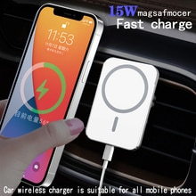 car phone holders phones 15W Magsafing car mount wireless charger is suitable for iphone 12 car magn