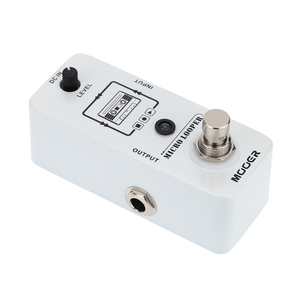 Guitar Effects Pedal Mooer Mlp1 Micro Looper Pedal Guitar Synthesizer Loop Station for Electric Guitar Effector Unlimited 30 Min