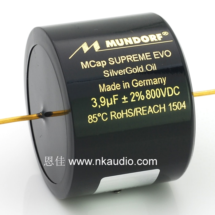 1pcs Original Germany MUNDORF MCap SUPREME EVO SilverGold.Oil series Gold and silver oil immersion PP Capacitors free shipping