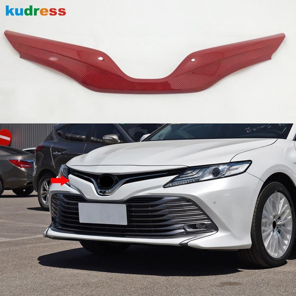Para Toyota Camry XV70 XV 70 LE XLE 2018-2020 Color rojo estilo coche rejilla central delantera parachoques parrilla cubierta embellecedor partes exteriores