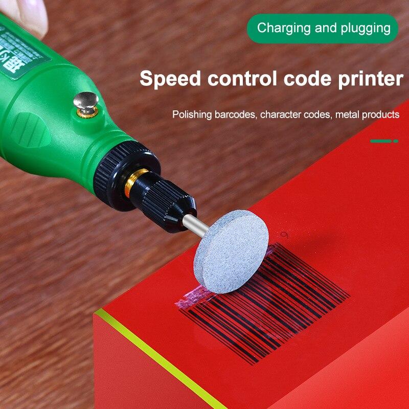 اللاسلكي طاحونة الحفر الكهربائية 5 سرعات قابل للتعديل النقش القلم قطع الحفر تلميع أداة دوارة مع الملحقات TN88