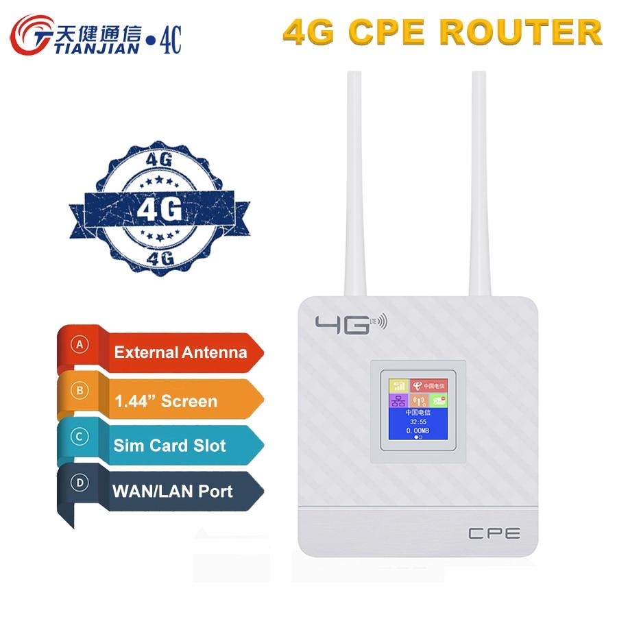 4G Wi-Fi роутер портативный модем 4g Wi-Fi Sim-карта шлюз FDD TDD LTE WCDMA GSM глобальная разблокировка внешние антенны беспроводные роутеры