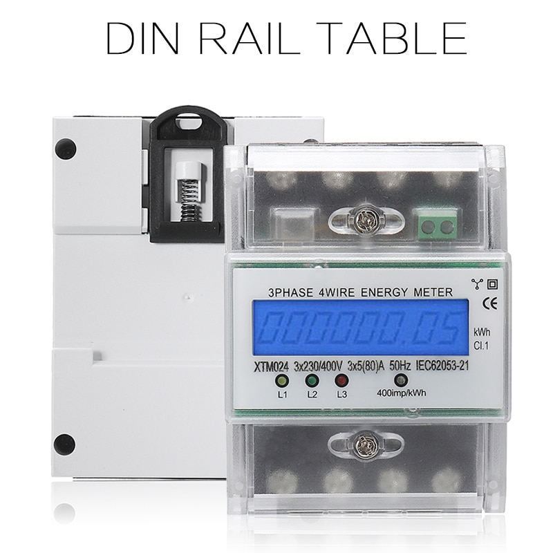 1pc xtm024 5-80a digital 3-phase 4-wire medidor de corrente subterrânea lcd din trilho medidor digital lcd monitor de energia instrumentos elétricos