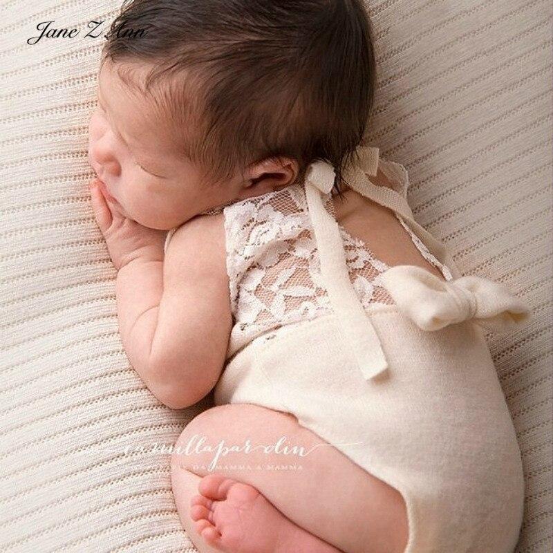 Jane z ann traje recém-nascido malha laço costura arco bodysuit 4 cores estúdio tiro roupas