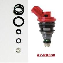 Kits de reconstruction dinjecteur de carburant de pièce automatique pour Nissan SR20 oem 16600-53J00 viton joint torique filtre bouchon AY-RK038 avec 10 ensembles