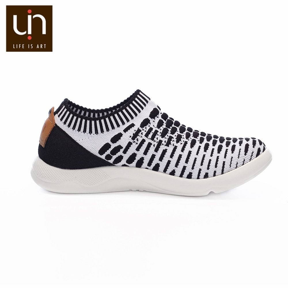 UIN Sicily Series Breathable Knitted Shoes for Kids Black/Red Casual Loafers Children Soft Sneakers Boys/Girls Fashion Shoes enlarge