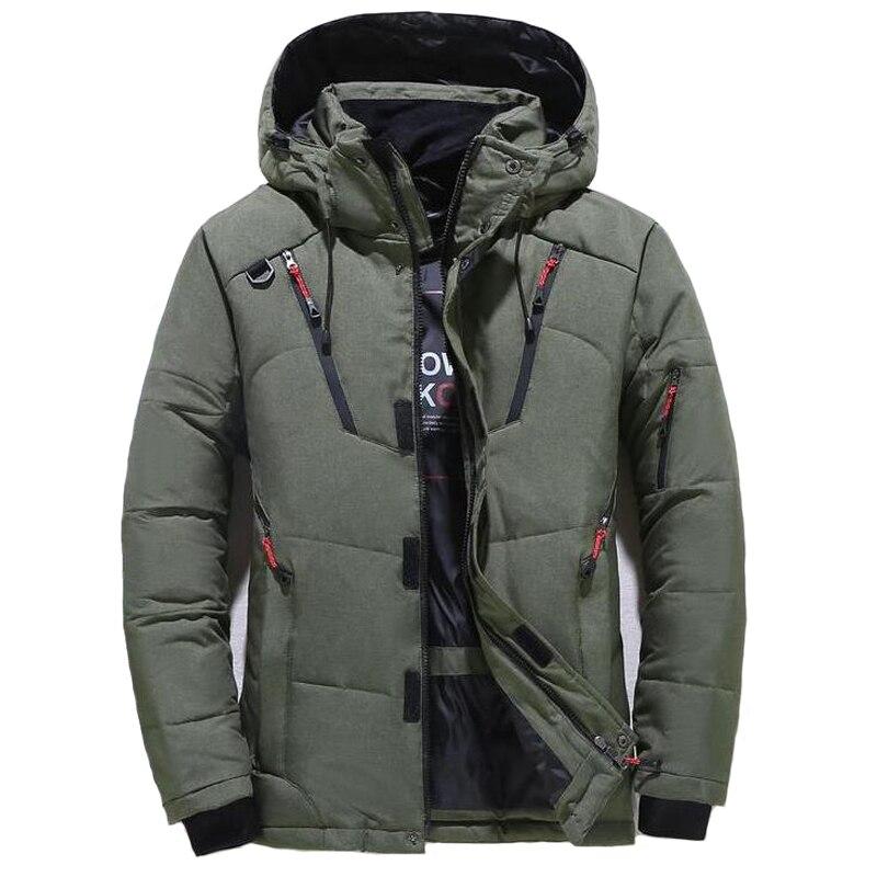 Winter Jacke Männer Casual Unten Warme Mit Kapuze Mäntel Mens Fashion Outwear Windjacke Verdicken Parkas Casaco Masculino Marke Kleidung