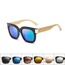 UV 400 Handmade Square Bamboo Sunglasses Retro sun glasses Wooden Sides women men cat eye round Orig