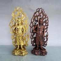 11china lucky seikos brass fudo mingwang statue aryaacalanatha standing buddha ornaments town house exorcism