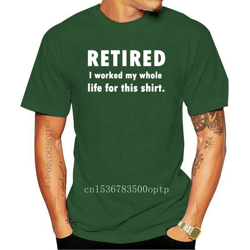 New Men t shirt RETIRED GOODBYE TENSION HELLO PENSION T-SHIRT-RT Women tshirts
