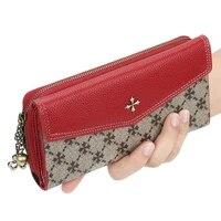 2020 womens long slim wallet large capacity purse phone wallet zipper leather hand bag money clip louis luxury designer brand