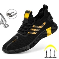 2021men construction safety boots sneakers new design safety work shoes boots for men anti smashing safety shoes steel toe boots