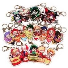 Anime mon héros académique sac chiffres pendentif accessoires porte-clés mode voiture porte-clés mignon acrylique porte-clés Cosplay
