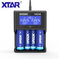 XTAR VC4 סוללה מטען תצוגת טעינה עבור נטענת סוללות ליתיום 10400-32650 AAA AAAA סוללה 20700 18560 מטען USB